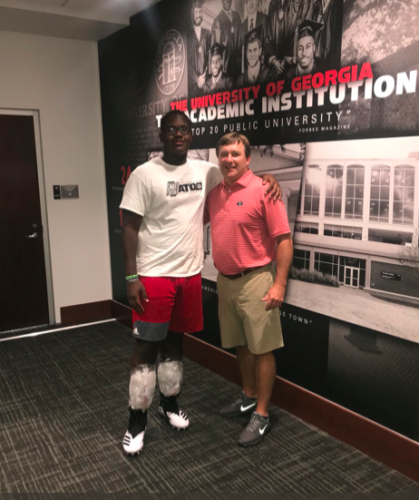 Warren Brinson and Kirby Smart Photo @warrenbrinson17 Twitter