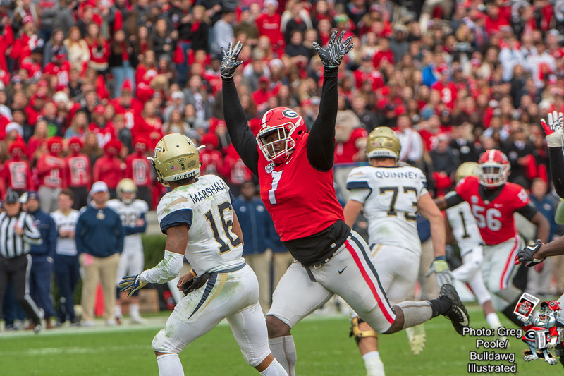 Jay Hayes (07) - Georgia vs. Georgia Tech 2018