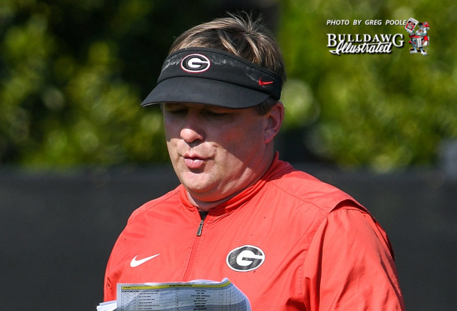 Kirby Smart during Monday's UGA football practice, September 30, 2019