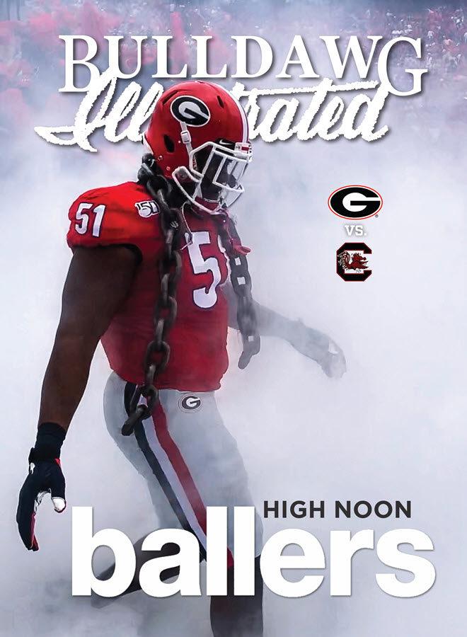 Georgia vs. South Carolina 2019 print issue cover