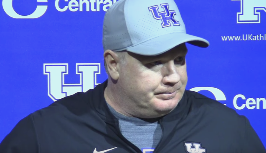Wildcats Head Coach Mark Stoops during the post-Georgia vs. Kentucky game press conference on Saturday, October 19, 2019