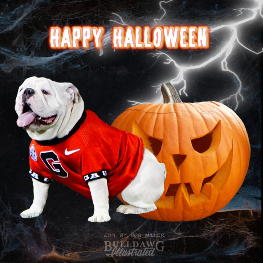 2019-10-31 Halloween Daily Dawg Thread graphic edit with logo by Bob Miller