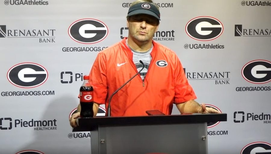 UGA head coach Kirby Smart during the Georgia vs. Missouri post-practice press conference on Tuesday, November 5, 2019