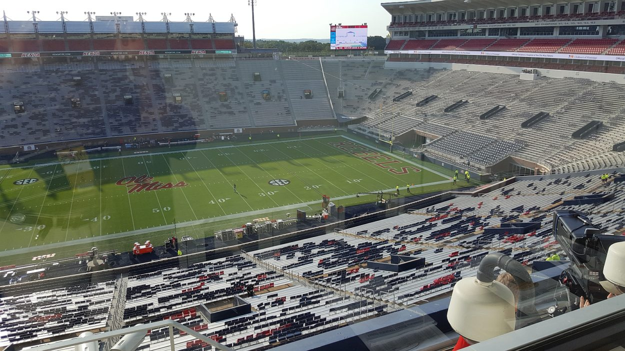 A view from Vaught–Hemingway Stadium (photo by Murray Poole)