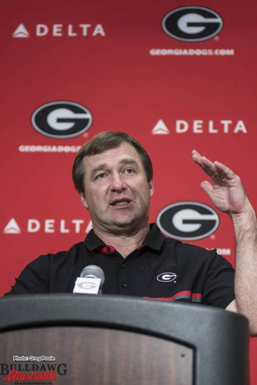 Kirby Smart during his Georgia Tech postgame press conference
