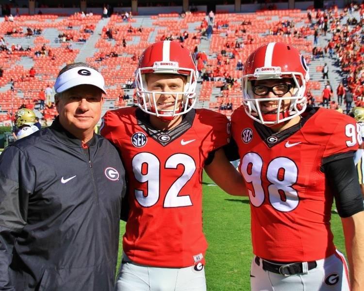 Kevin Butler, William Ham and Rodrigo Blankenship (Photo by Rob Saye)