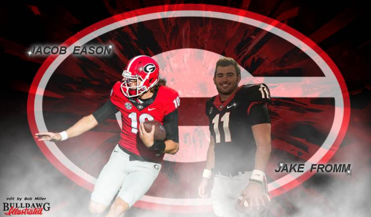 Jacob Eason and Jake Fromm edit by Bob Miller
