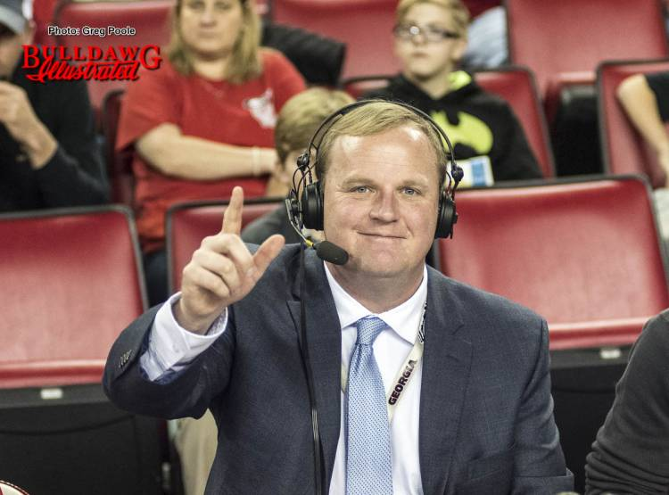 UGA women's basketball play-by-play man, Jeff Dantzler