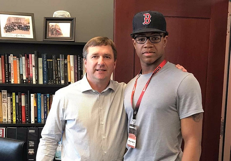 Kirby Smart (left) and Nolan Smith (right) (photo from Nolan Smith - Twitter)