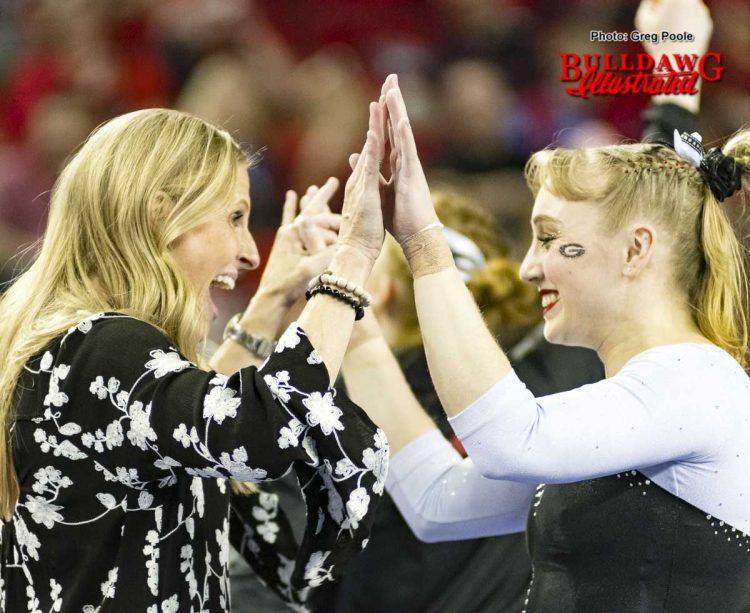 Coach Danna Durante and Hayley Sanders