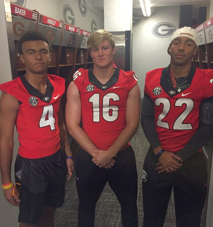 JD Bertrand (16), Dominick Blaylock (4), and Steele Chambers (22) (photo from J.D. Bertrand - Twitter)