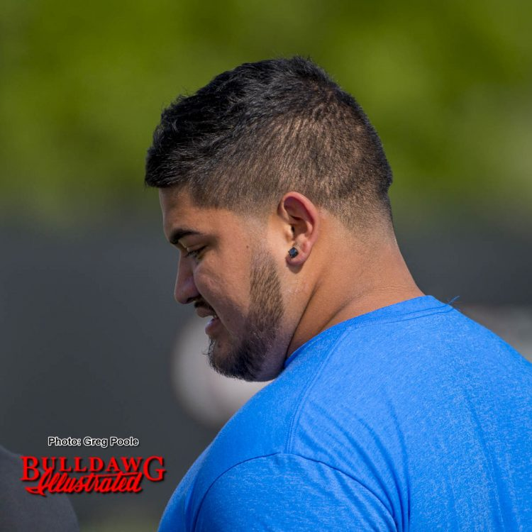 Texas Tech junior DT Breiden Fehoko who is planning to transfer, was at Georgia's 11th practice Thursday afternoon