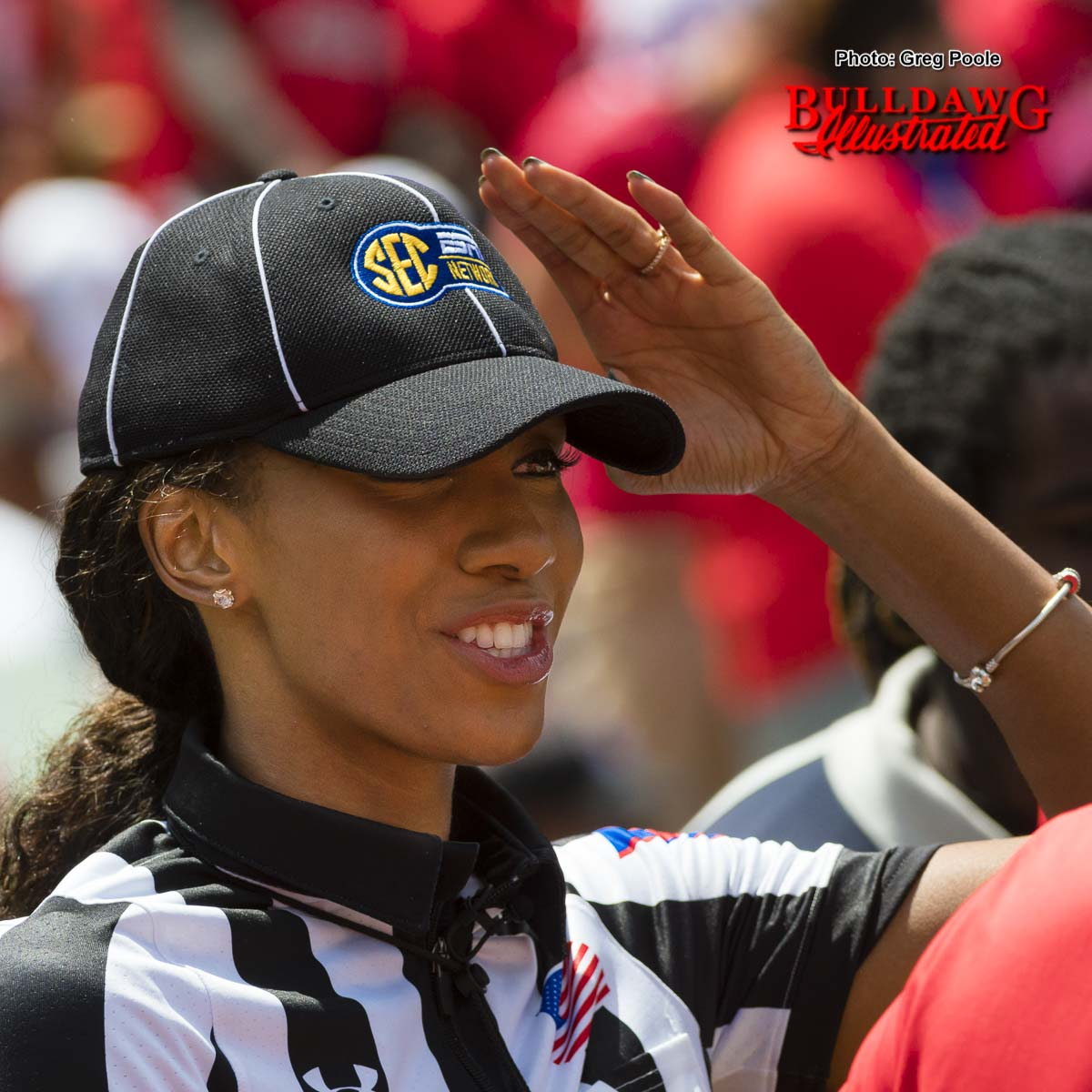UGA grad and ESPN personality Maria Taylor was one of the SEC officials for Georgia's 2017 G-Day game