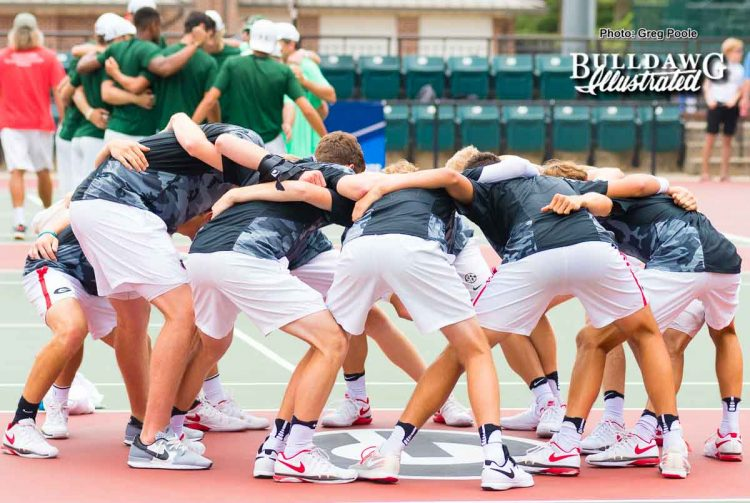 UGA Men's Tennis Team
