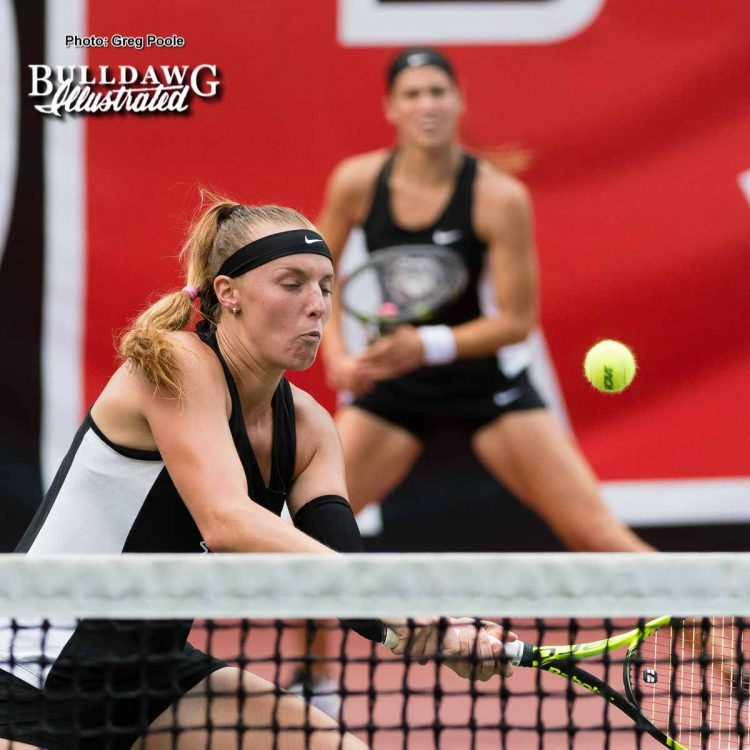 Kennedy Shaffer makes the point - NCAA Doubles Quarterfinals – May 27, 2017