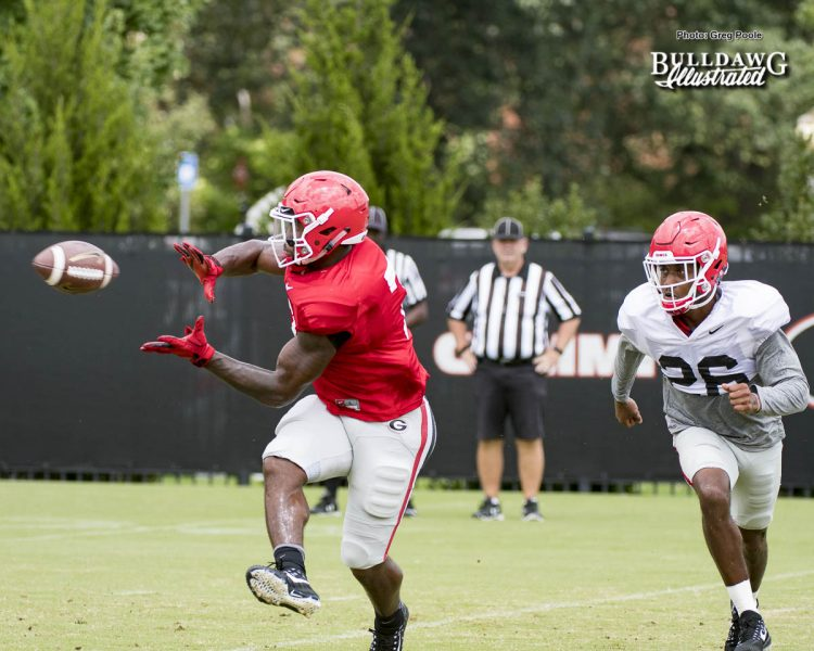 D'Andre Swift with the catch - August 10, 2017