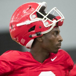 Javon Wims (6) - Practice No. 13 of UGA Fall Camp - Monday, August 14, 2017