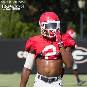 Jayson Stanley (2) - UGA Fall Camp - Practice No. 21 - Wednesday, Aug. 23, 2017