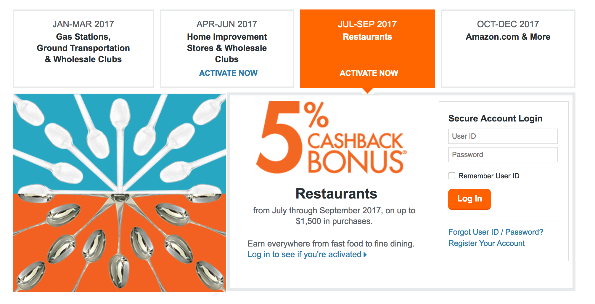 Discover it® Q8 Rotating 8% Cash Back Bonuses: Dining  Birch Finance