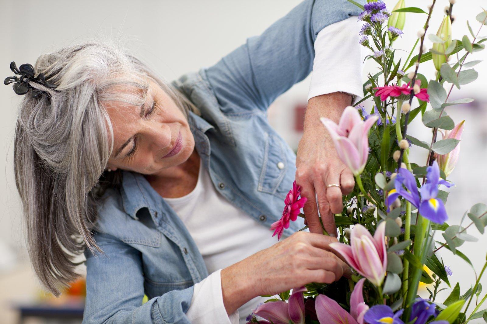 Flower arranging retirement community