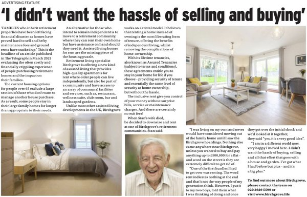 I didn't want the hassle of selling and buying - Surrey Advertiser