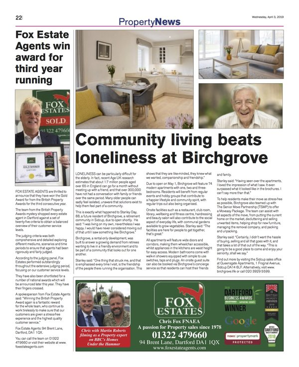 Image of News Shopper article on community living