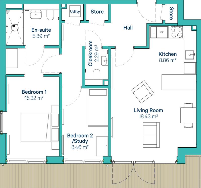Ewell Type 1 floorplan