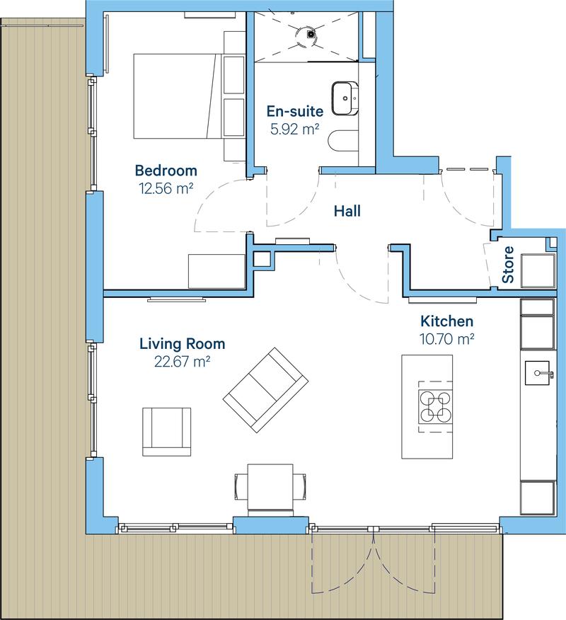 Ewell Type 2 floorplan