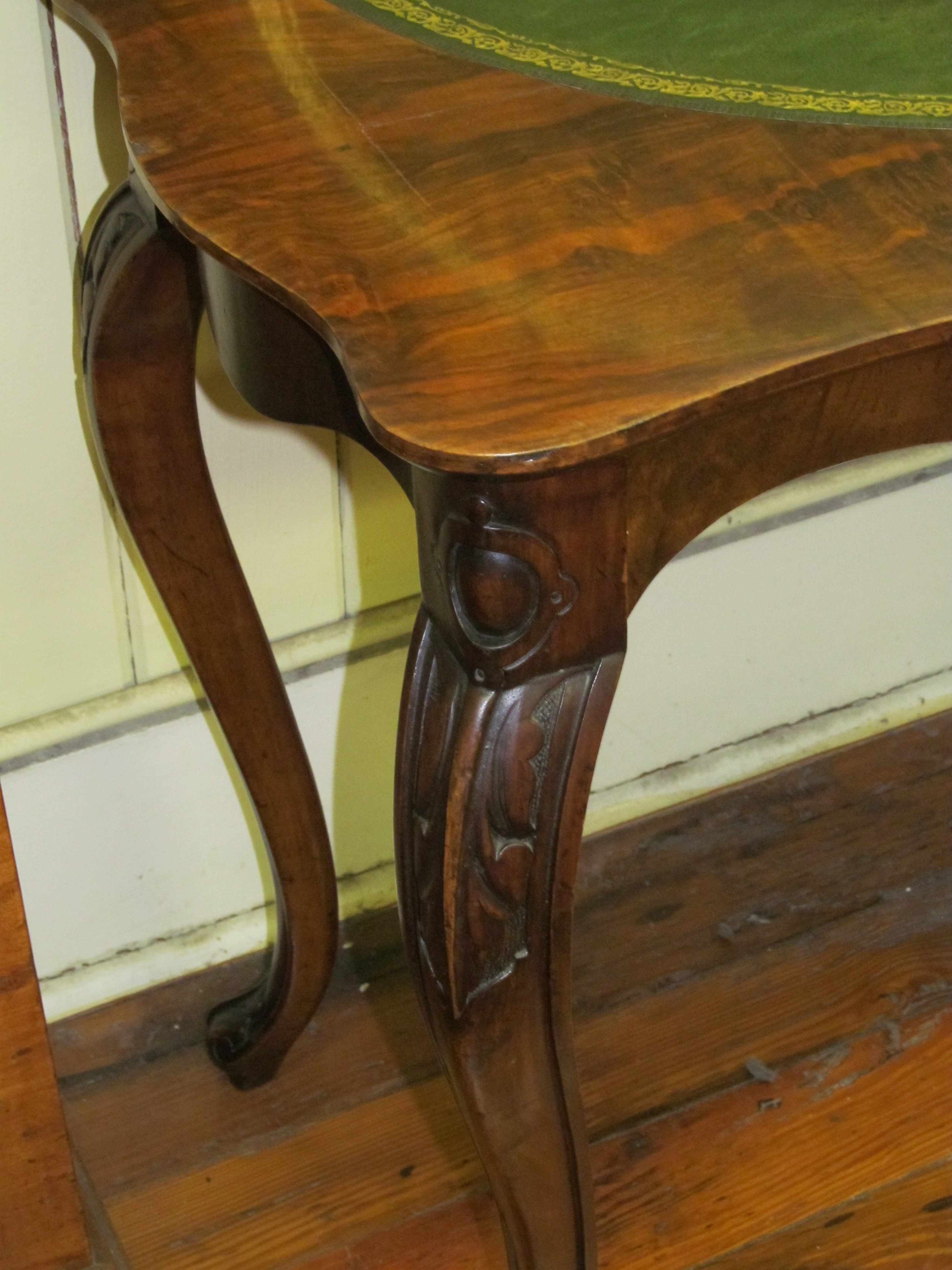 Burr Walnut French Style Flip Top Games Table