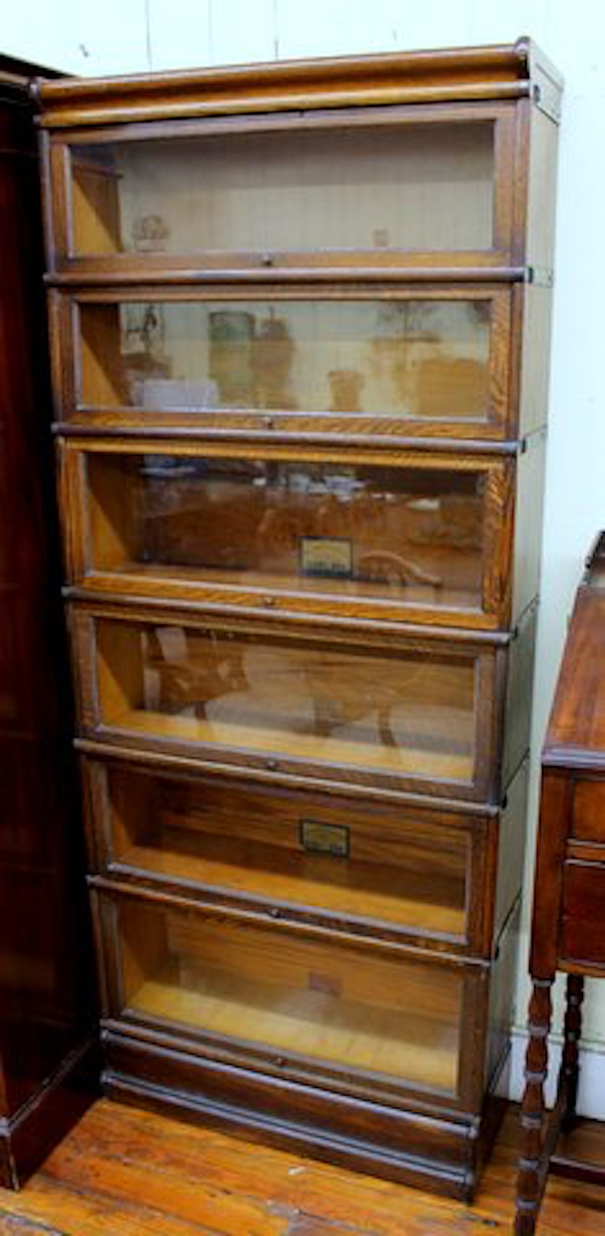 Stack Of Six Globe Wernicke Quarter Sawn Oak Barrister S Bookcase