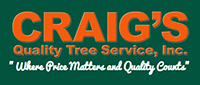 Website for Craig's Quality Tree Service, Inc.
