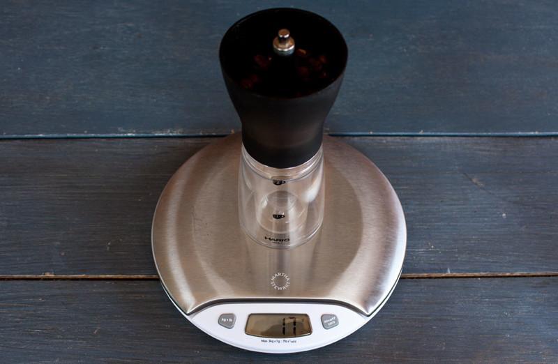 Aeropress scale grinder large
