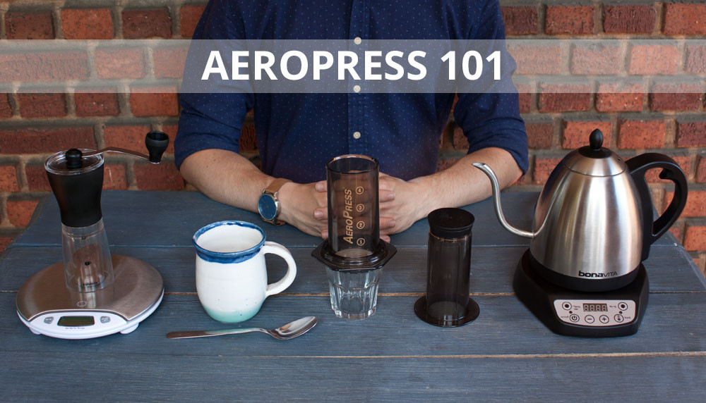 Aeropress technique inverted hariominimill mug materials overview