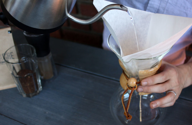 Chemex iced coffee filter pour kettle large