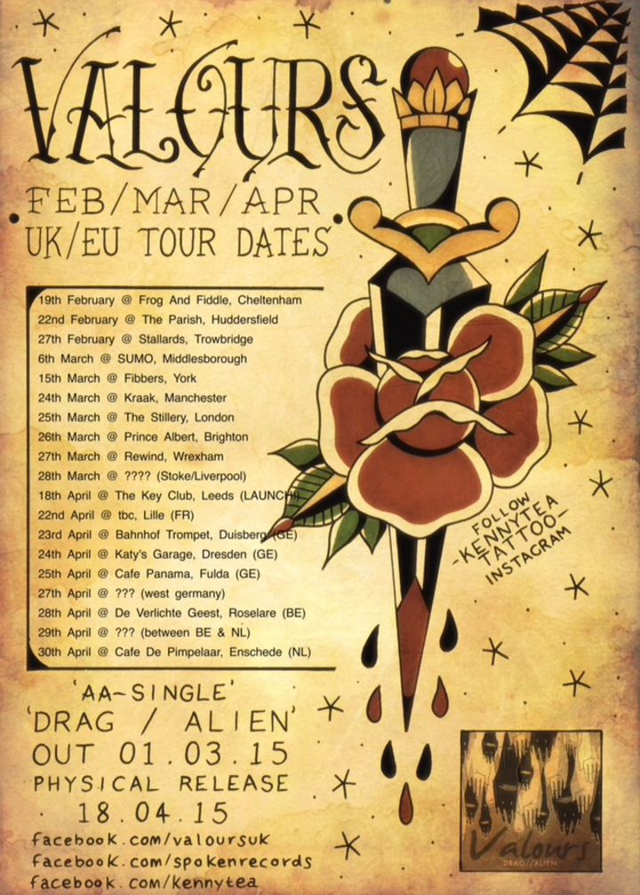 Valours Tour Dates