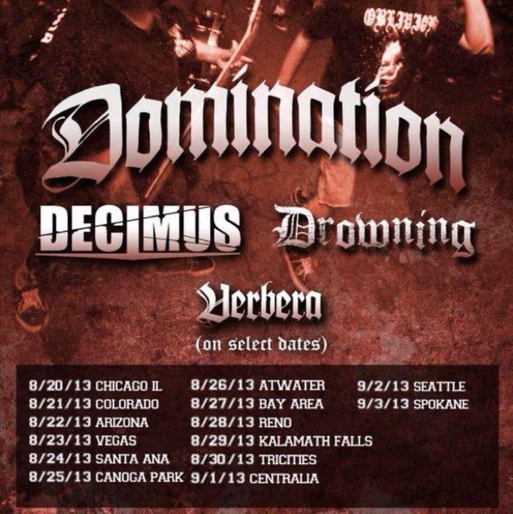 Decimus Tour Dates