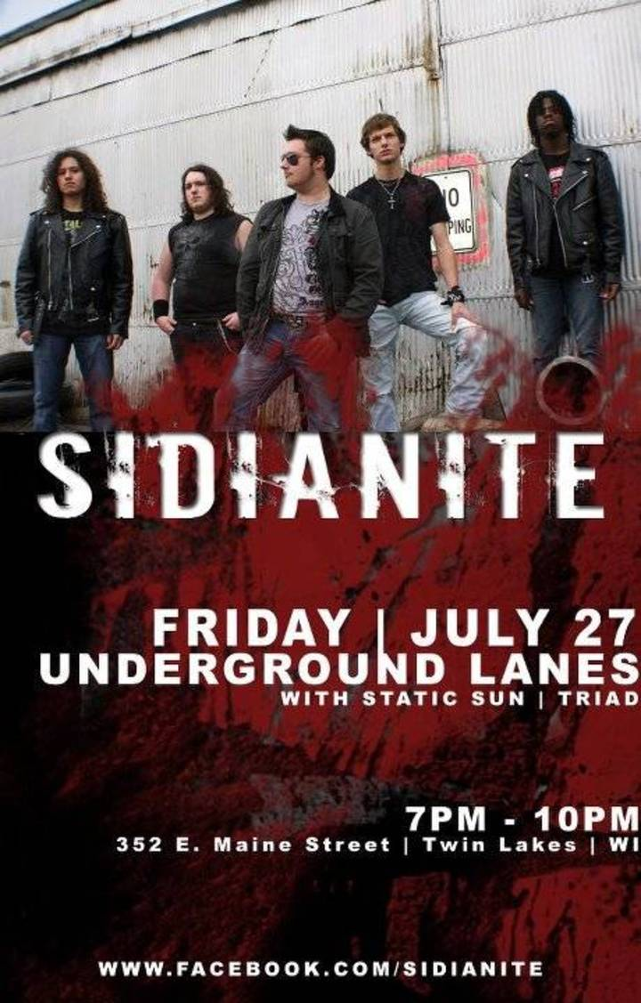 Sidianite Tour Dates