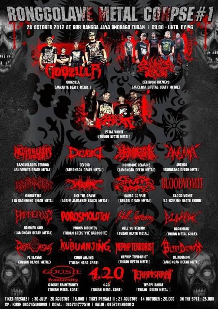 Anemia Surabaya Tour Dates