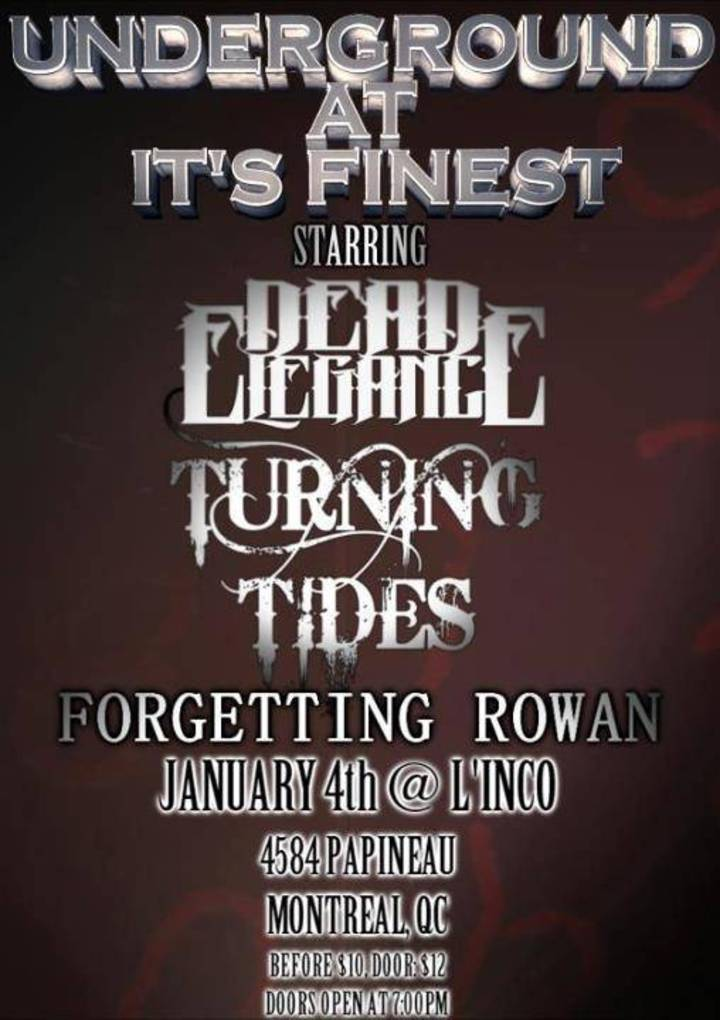 Turning Tides Tour Dates