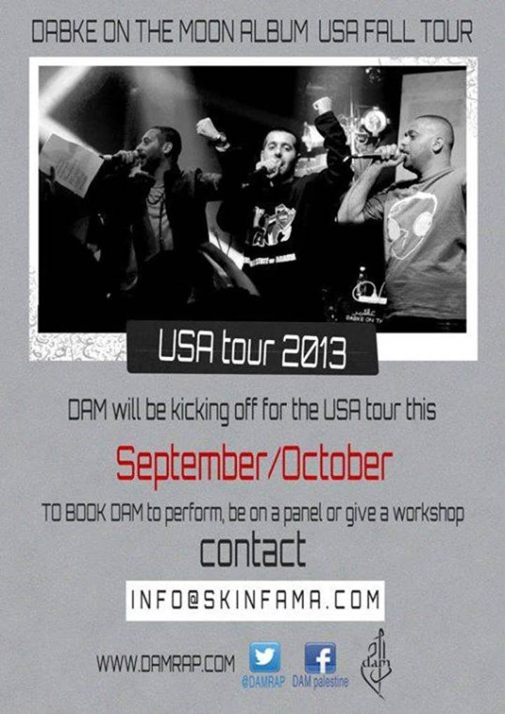 DAM Palestinian HipHop Crew Tour Dates