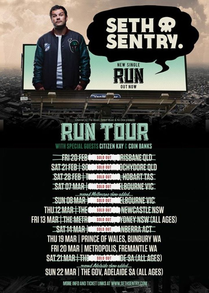 Seth Sentry @ Karova Lounge - Ballarat, Australia