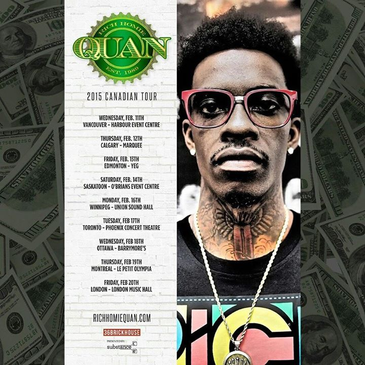 Rich Homie Quan Tour Dates