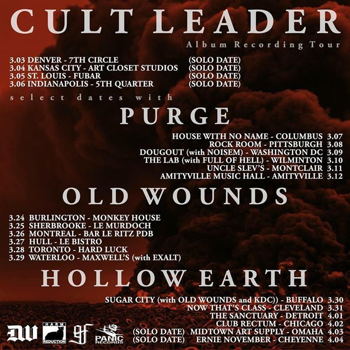 Cult Leader Tour Dates