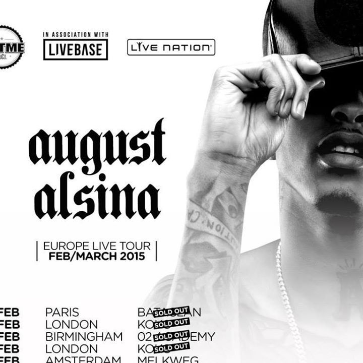 August Alsina Tour Dates
