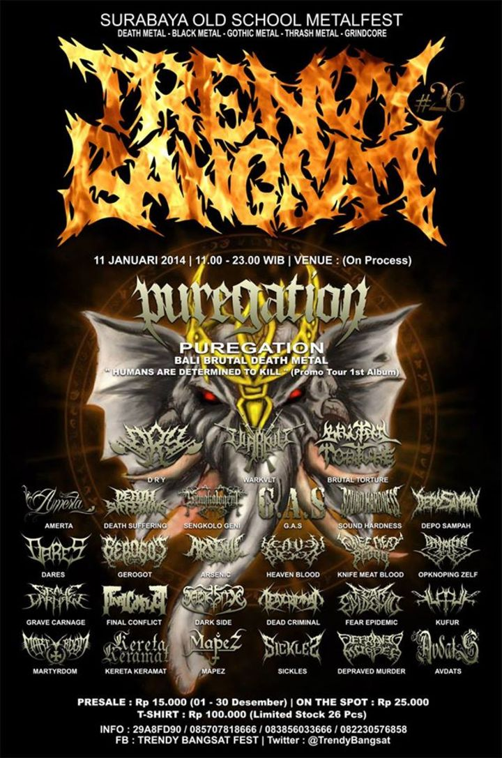 TRENDY BANGSAT FEST Tour Dates