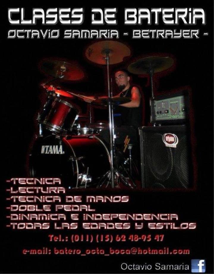 Octavio Samaria (Betrayer Drummer - Clases de Bateria) Tour Dates