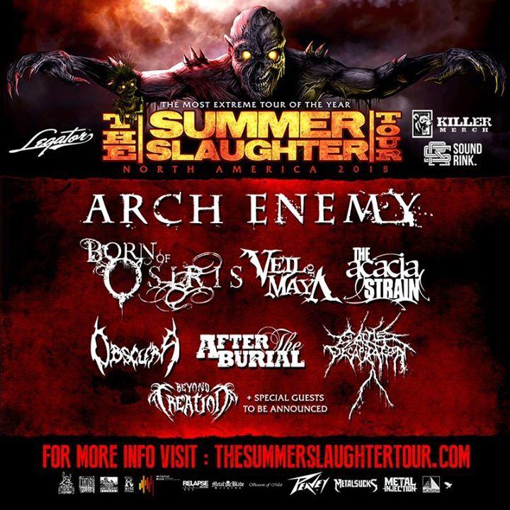 Summer Slaughter Tour Tour Dates