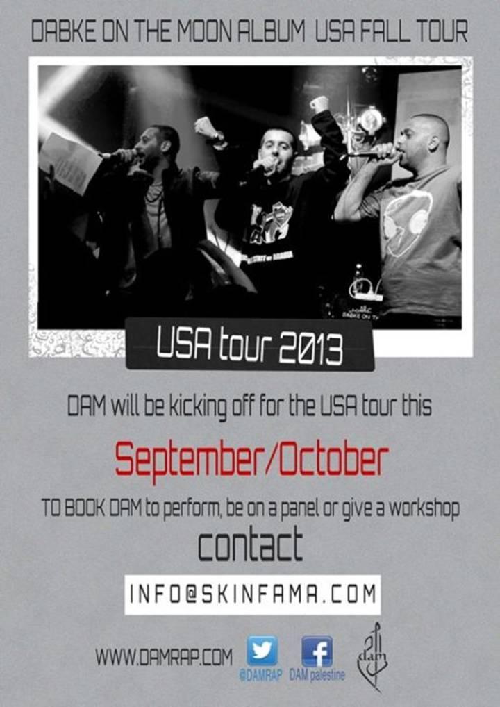Dam Tour Dates