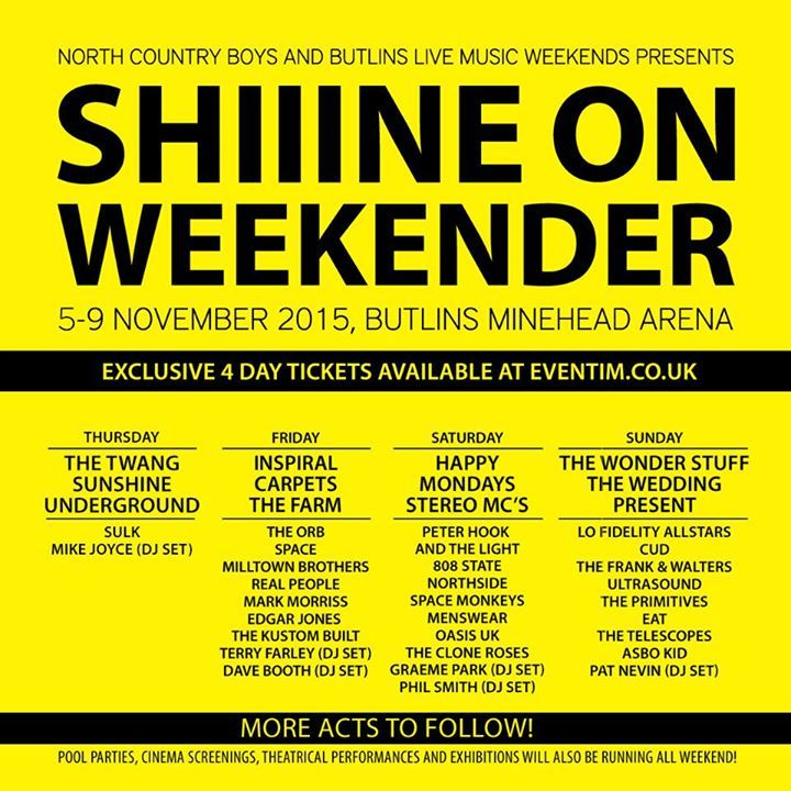 Shiiine On Weekender Tour Dates