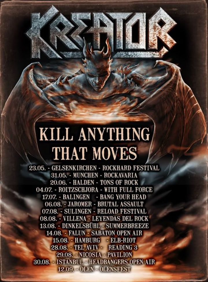 Kreator Tour Dates